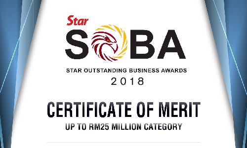 MM Century- Star SOBA Certificate of Merit