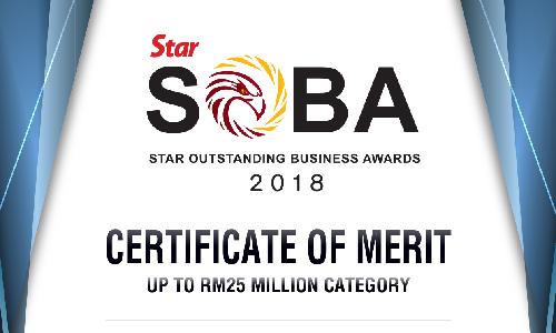 MM Century- Star SOBA Certificate of Merit