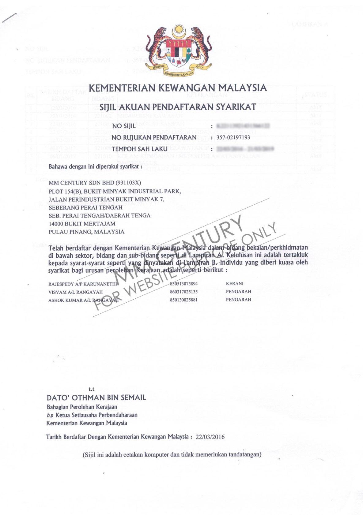 MM Century- Kementerian Kewangan Malaysia